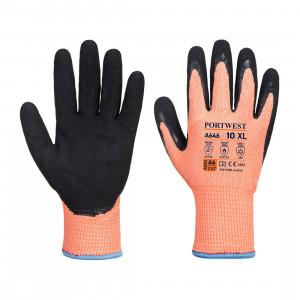 Portwest A646 - Vis-Tex Winter HR Cut vágásbiztos nitril kesztyű Cut - / D, narancs/fekete termék fő termékképe