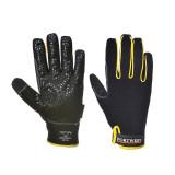 Portwest A730 - Super Grip nagy teljesítményű kesztyű, fekete/sárga