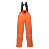 Portwest AF83 - Araflame bélelt téli kantáros nadrág, narancs