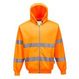 Portwest B305 - Hi-Vis zippzáros pulóver, narancs