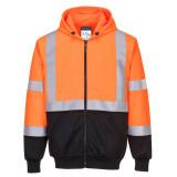 Portwest B315 - Hi-Vis kéttónusú kapucnis pulóver, narancs/fekete