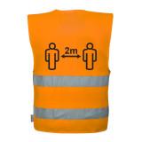 Portwest C406 - Távolságtartásra figyelmeztető jól láthatósági mellény, narancs