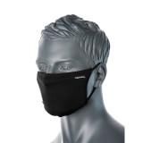 Portwest CV33 - 3 rétegű anti-mikrobiális arcmaszk, fekete, 25db/csomag