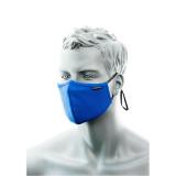 Portwest CV35 - 3 rétegű anti-mikrobiális arcmaszk orrnyereg borítással, kék, 25db/csomag