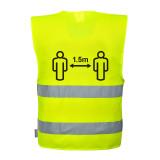 Portwest CV74 - Távolságtartásra figyelmeztető jól láthatósági mellény, sárga