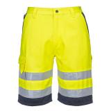 Portwest E043 - Jól láthatósági rövidnadrág, sárga/tengerészkék