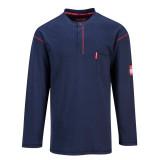 Portwest FR02 - Bizflame gombos hosszúujjú póló, tengerészkék
