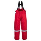 Portwest FR58 - Antisztatikus téli mellesnadrág, piros