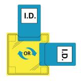 Portwest ID30 - Dupla azonosítókártya tartó - ragasztható, víztiszta, 50db/csomag