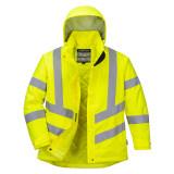 Portwest LW74 - Női jól láthatósági téli kabát, sárga