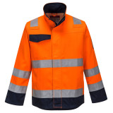 Portwest MV35 - Modaflame RIS kabát, narancs/tengerészkék