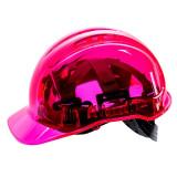 Portwest PV50 - Peak View átlátszó védősisak, pink