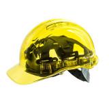 Portwest PV50 - Peak View átlátszó védősisak, sárga