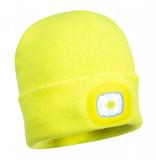 Portwest B027 - Junior sapka, újratölthető LED lámpával, sárga