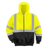 Portwest B315 - Hi-Vis kéttónusú kapucnis pulóver, sárga/fekete