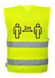 Portwest C406 - Távolságtartásra figyelmeztető jól láthatósági mellény, sárga