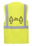 Portwest CV76 - COVID jól láthatósági vezetői mellény, sárga