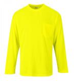 Portwest S579 - Day-Vis hosszú ujjú póló zsebbel, sárga