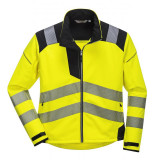 Portwest T402 - PW3 Hi-Vis softshell kabát, sárga/fekete