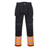 Portwest PW307 - PW3 Hi-Vis Class 1 Holster nadrág, narancs/fekete