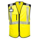 Portwest PW309 - PW3 Hi-Vis Executive mellény, sárga/fekete