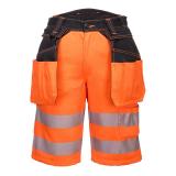 Portwest PW343 - PW3 Hi-Vis Holster rövidnadrág, narancs/fekete
