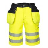 Portwest PW343 - PW3 Hi-Vis Holster rövidnadrág, sárga/fekete