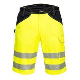 Portwest PW348 - PW3 Hi-Vis rövidnadrág, sárga/fekete