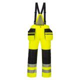 Portwest PW351 - PW3 Hi-Vis téli kantáros nadrág, sárga/fekete