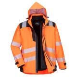 Portwest PW365 - PW3 Hi-Vis 3 az 1-ben kabát, narancs/fekete