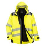 Portwest PW365 - PW3 Hi-Vis 3 az 1-ben kabát, sárga/fekete
