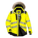 Portwest PW369 - PW3 Hi-Vis Parka téli kabát, sárga/fekete