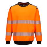 Portwest PW379 - PW3 Hi-Vis környakas pulóver, narancs/fekete