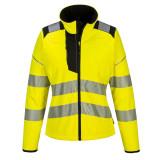 Portwest PW381 - PW3 Hi-Vis női softshell kabát, sárga/fekete