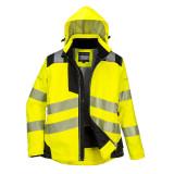 Portwest PW382 - PW3 Női téli kabát, sárga/fekete