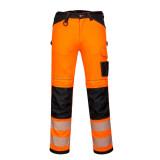 Portwest PW385 - PW3 Hi-Vis Stretch Work női nadrág, narancs/fekete