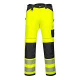 Portwest PW385 - PW3 Hi-Vis Stretch Work női nadrág, sárga/fekete
