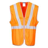 Portwest RT20 - Jól láthatósági zippzáras vasúti mellény, hosszított, narancs