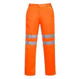 Portwest RT45 - Jól láthatósági vasúti nadrág, hosszított, narancs