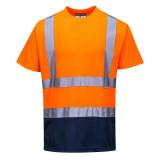 Portwest S378 - Kéttónusú pólóing, narancs/tengerészkék