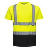 Portwest S378 - Kéttónusú pólóing, sárga/fekete