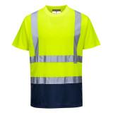 Portwest S378 - Kéttónusú pólóing, sárga/tengerészkék