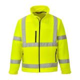 Portwest S424 - Jól láthatósági softshell dzseki, sárga