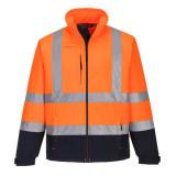 Portwest S425 - Jól láthatósági Contrast softshell dzseki narancs/tengerészkék