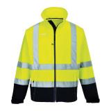 Portwest S425 - Jól láthatósági Contrast softshell dzseki sárga/tengerészkék