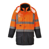 Portwest S426 - Hi-Vis 7 az 1-ben Contrast Traffic kabát, narancs