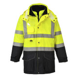 Portwest S426 - Hi-Vis 7 az 1-ben Contrast Traffic kabát, sárga