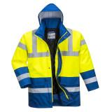 Portwest S466 - Kontraszt Traffic kabát, sárga/királykék