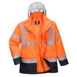 Portwest S471 - Hi-Vis 4 az 1-ben Contrast Traffic kabát, narancs