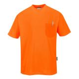 Portwest S578 - Day-Vis rövidujjú zsebes póló, narancs